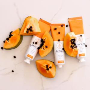 flat-lay -of-tubes-with-papayas